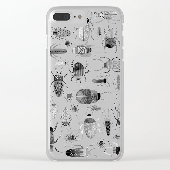 Ink Beetles Clear iPhone Case
