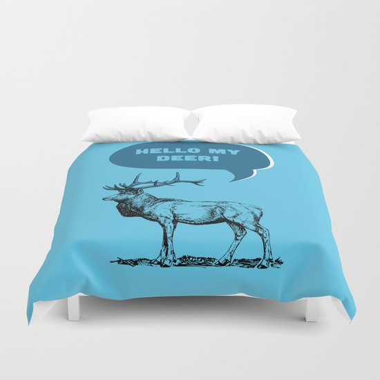 Hello My Deer! Duvet Cover