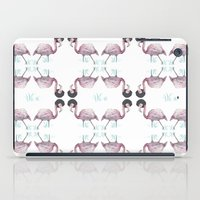 afro iPad Cases featuring Afro flamingos by Iratxe González