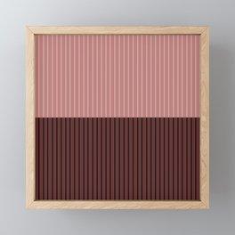 Color Block Lines XVI Berry Framed Mini Art Print