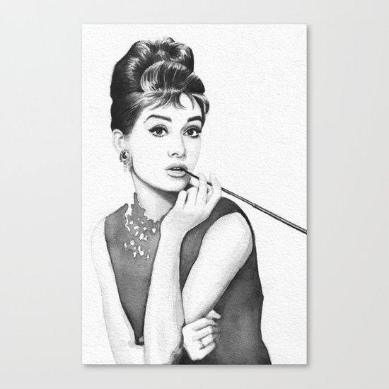 Audrey Hepburn Breakfast at Tiffanys Canvas Print