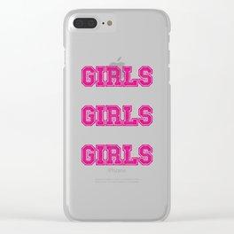 Girls Girls Girls #society6 #decor #buyart #artprint Clear iPhone Case