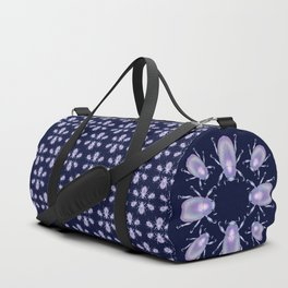 Pearly Holographic Beetle Duffle Bag