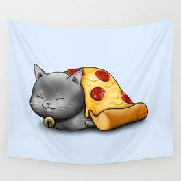 Purrpurroni Pizza Wall Tapestry