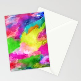 Watercolor Ink Abstract Stationery Cards
