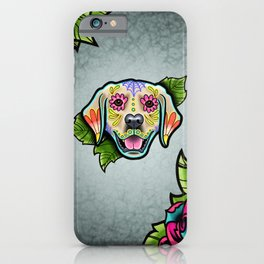 Golden Retriever - Day of the Dead Sugar Skull Dog iPhone Case