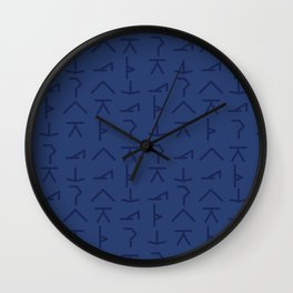 Modern Yoga Symbols Wall Clock
