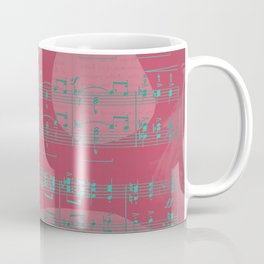 Schumann Sheet Musical - Carnaval Coffee Mug