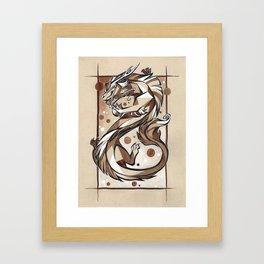 Star dancer - eastern dragon ink painting Framed Art Print