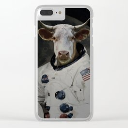 The Cow That Jumped Over the MOOn Clear iPhone Case