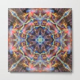 Cosmic Flower Mandala Metal Print