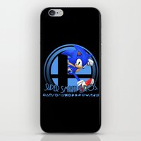 smash bros iPhone & iPod Skins featuring Sonic - Super Smash Bros. by Donkey Inferno