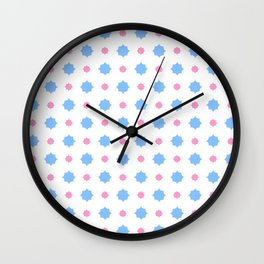 new polka dot 28- blue and pink Wall Clock