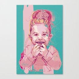 Digital Drawing #27 - Child Portrait Canvas Print