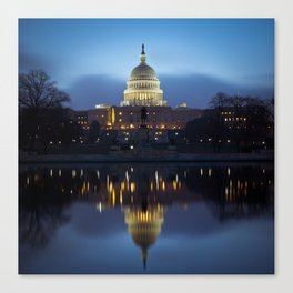 US Capitol Reflection Canvas Print