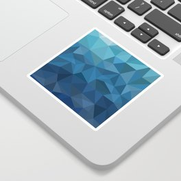 blue geometric Sticker