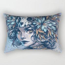 Night Cat Witch Rectangular Pillow