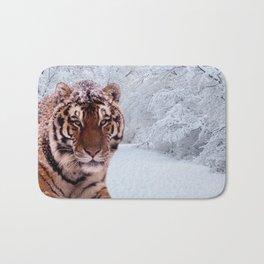 Tiger and Snow Bath Mat