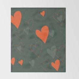Hunters Hearts Throw Blanket