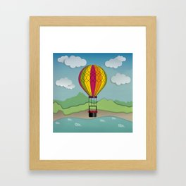 Balloon Aeronautics Sea & Sky Framed Art Print