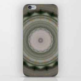 The Green Unsharp Mandala 9 (Camouflage Target) iPhone Skin