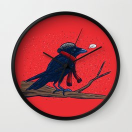 Annoyed IL Birds: The Crow Wall Clock