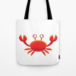 Orange Color Crab Tote Bag
