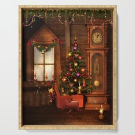 Old Christmas Room Serving Tray