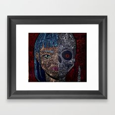 no empty spaces girl and skull Framed Art Print