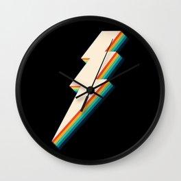 Vintage Lightning Bolt Wall Clock
