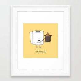 Dirty tricks Framed Art Print