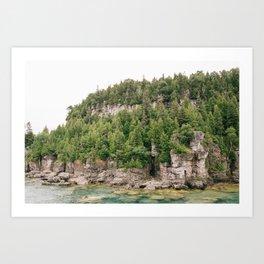 Green and Rocks Art Print