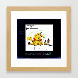 Alcohol Super Effective Gameboy Framed Art Print
