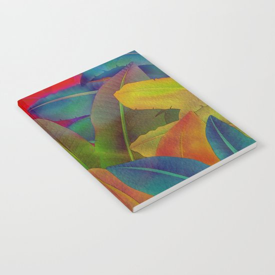 Exotic Leaf Pattern Notebook