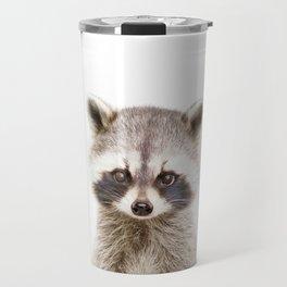 Baby Raccoon Portrait Travel Mug