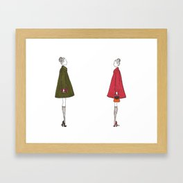Twins Framed Art Print