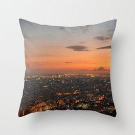 Barcelona Sunset 01 Throw Pillow