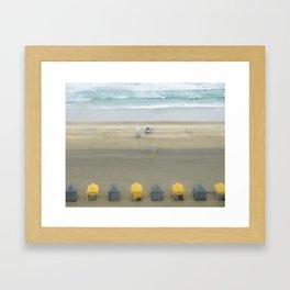 Little Cabanas Framed Art Print