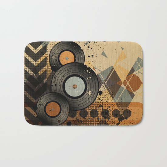 Retro Vinyl. Bath Mat