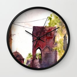 Rhodes old town streets Wall Clock