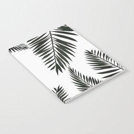 Black Watercolor Tropical Leaves Notebook