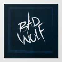 bad wolf Canvas Prints featuring bad wolf by pixel.pwn | AK