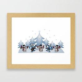 Blue Christmas Framed Art Print