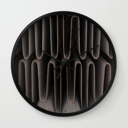 Industrial Waves | Metal Coils Abstract | Contemporary Art Wall Clock