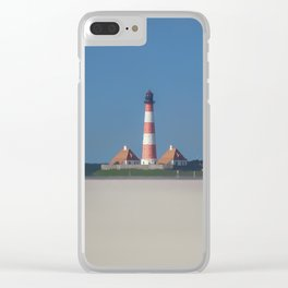Lighthouse Westerhever Germany Clear iPhone Case