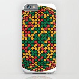 Metaballs Pattern Sphere (Rasta Colours) iPhone Case