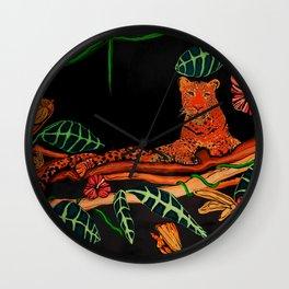 Jungle Cat Series, Leopard 2 Wall Clock
