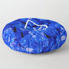 Lapis Lazuli Candy Gem Floor Pillow