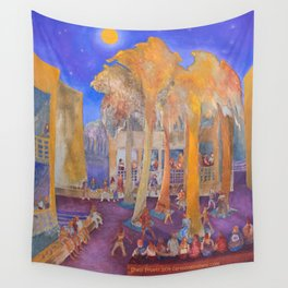 New College Palm Court Party Wall Tapestry