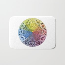 Ornamental Color Wheel Bath Mat